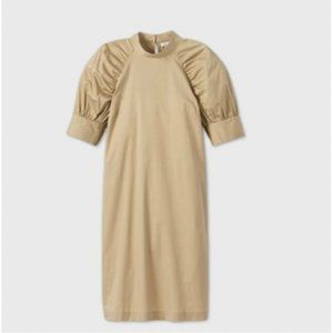 Prologue puff Elbow-Sleeve Dress from